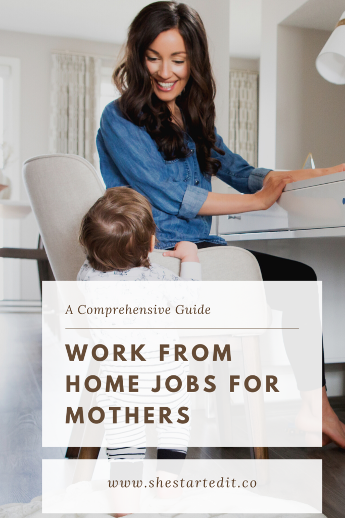 a guide on Work from home jobs for moms