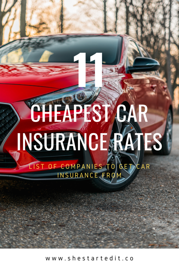 companies that offer the cheapest car insurance rates