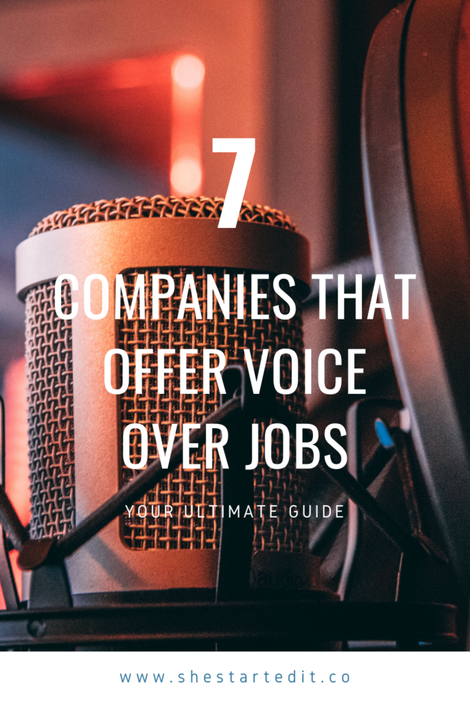 online sites that offer voice over jobs