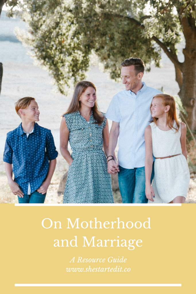 resources on motherhood and marriage