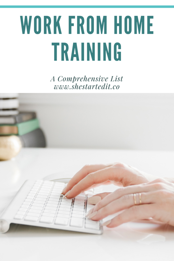 work from home training a list of online courses
