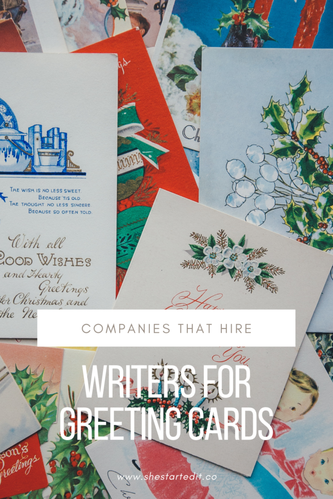 companies that hire people to write greeting cards