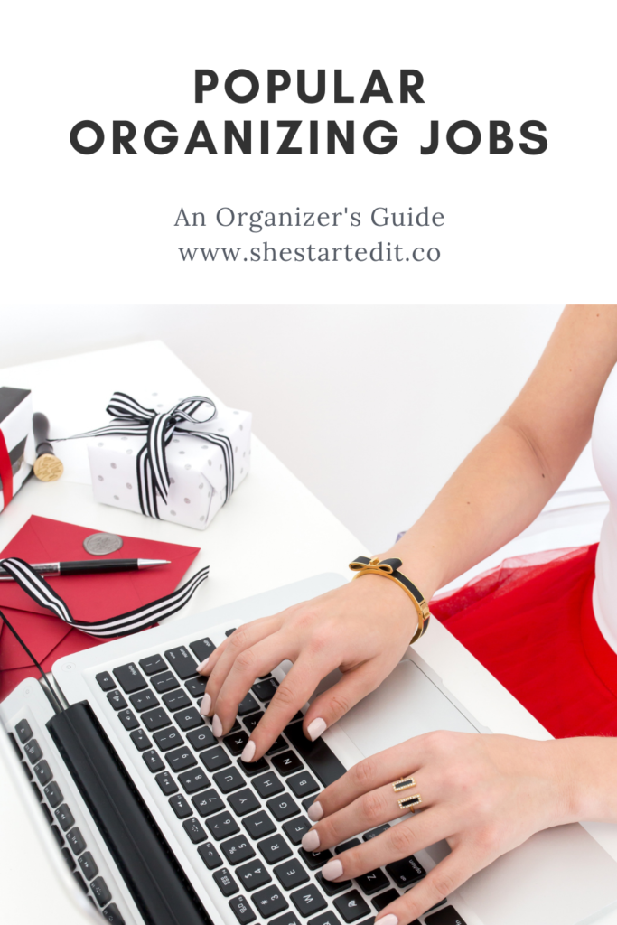 organizing jobs that you can do from home