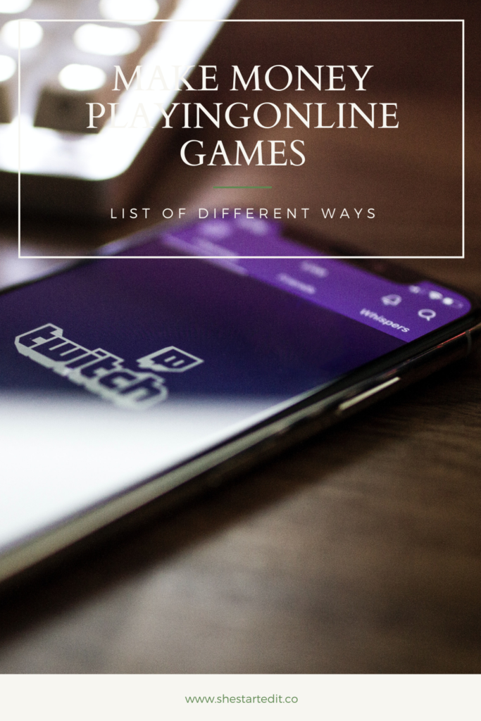 ways on how to make money playing games