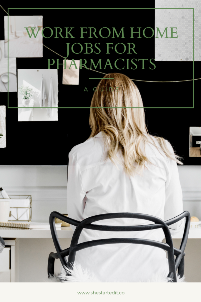 work at home jobs for pharmacists
