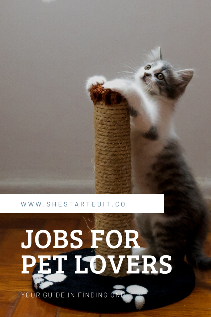 list of home-based jobs for pet lovers