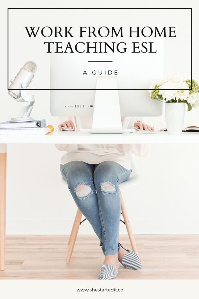how to work from home teaching ESL