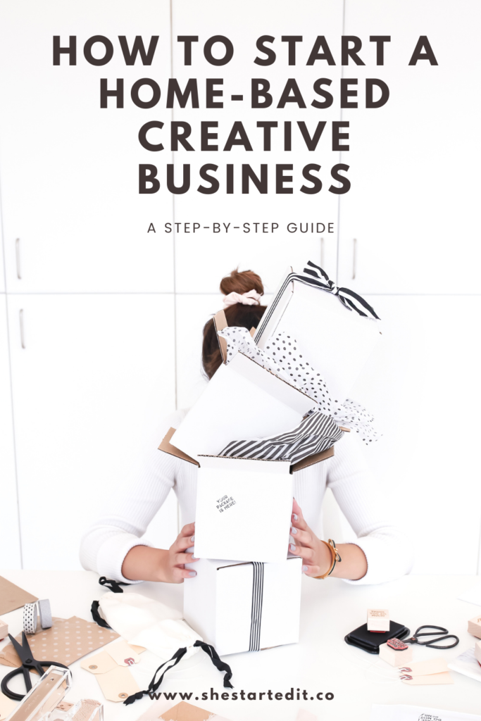 how to start a creative business from home