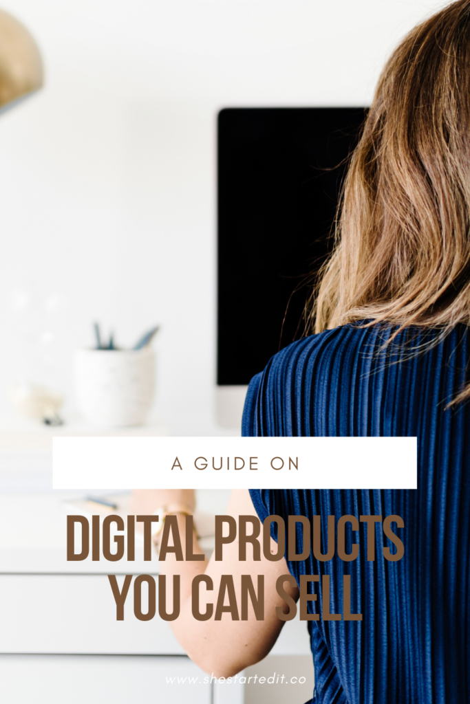 digital products you can sell from home